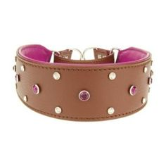 Looking for dog collars with bling! Check out this fancy collar with swavorski crystals and italian leather! WOW!