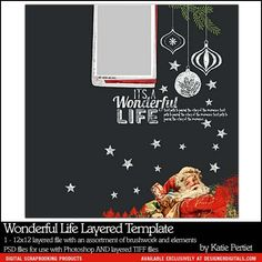 Wonderful Life Layered Template- Katie Pertiet - PSE/PS Templates- LT892645- DesignerDigitals