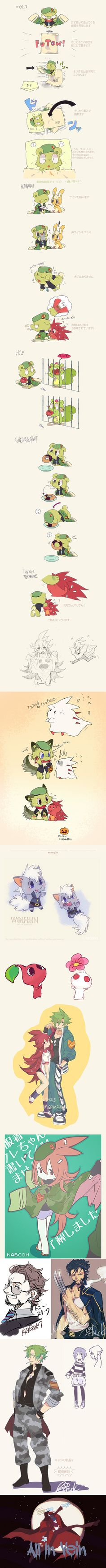 art by KABOOM CHUCK --- Flippy is so adorable and wow at the Wolverine towards the bottom