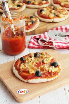 Recetas para niños: Pizza de Pollo con pan de pita Healthy Lunches For Kids, Kids Meals, I Love Pizza, Tapas Bar, Food Humor, Food For Thought, Vegetable Pizza, Dinner Recipes, Brunch