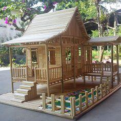 18 Ideas For Fairy Tree House Ideas Popsicle Sticks Popsicle Stick Crafts House, Popsicle Sticks, Craft Stick Crafts, Bamboo House Design, Tiny House Design, House Pillars, Hut House, Fairy Tree Houses, Doll House Plans