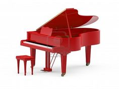 I will have a red grand piano someday, it is a goal!