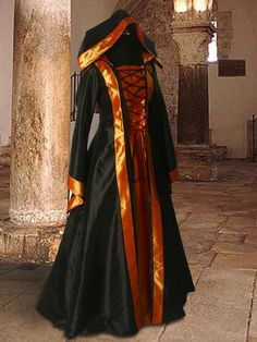 Medieval Gown Halloween Fantasy Costume No.999 - 99.00USD - Medieval and Renaissance Clothing, Handmade by Your Dressmaker