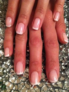 french shellac gel manicure. Nails by Patty@salonbluespa190