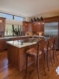"I saw this in ""Perfect Plans"" in Phoenix Home & Garden June 2013. Love this glass bar top mounted on the granite"