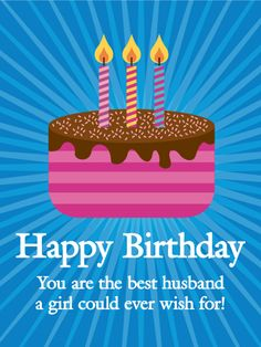 Send Free Funky Happy Birthday Card for Husband to Loved Ones on Birthday & Greeting Cards by Davia. It's free, and you also can use your own customized birthday calendar and birthday reminders. Birthday Message For Him, Birthday Present For Boyfriend, Birthday Reminder, Happy Birthday Wishes Cards, Best Birthday Wishes, Birthday Cards For Him, Birthday Gifts For Teens, Husband Birthday, Mom Birthday Gift