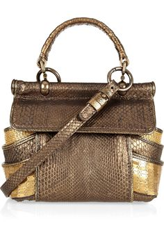 Diva embellished python shoulder bag by Roberto Cavalli