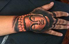 Cool Calm Buddha Tattoo Mens Hands