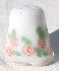 Glass thimble | Rose glass thimble