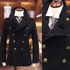 Industries Needs — Sportier Men's Wool-Blend Military- Coat ...