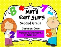 This pack includes a total of 60 exit slips for the second grade Common Core State Standards for Number and Operations in Base Ten. Use these quick, formative assessments to identify what students have mastered and where they may need additional support.