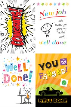 A sample of four designs from our Congratulations collection
