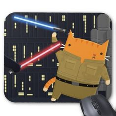 Father Kitty Mouse Pad