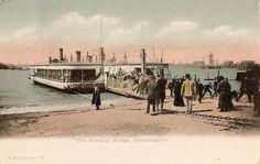 The floating bridge replaced by the Itchen Bridge