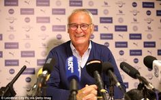 Ranieri is preparing to lead his team out at Wembley in Sunday's Community Shield
