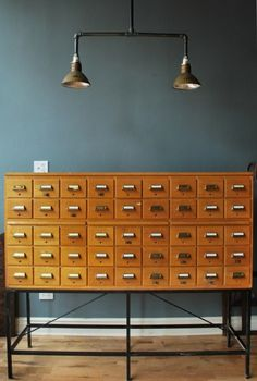 1950s Index Card Unit    Someday - for the private library.