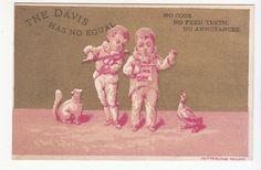 Davis Sewing Machine Gold Red 2 Man Band Violin Victorian Trade Card (c.1880). via ebay