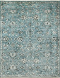 Loloi Kensington KG 01 Blue Fog Rug Hand Knotted Rugs Bedroom Accessories