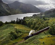 The Jacobite rail service runs daily over the summer between Fort William and Mallaig