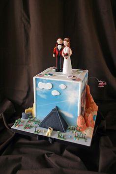 Wedding Cake - Las Vegas Scenes & Personalised Topper by Scrumptious Cakes (Paula-Jane), via Flickr
