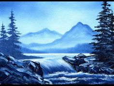 Prussian Blue Falls (5x7) / Small & Simple Oil Painting Exercise - YouTube