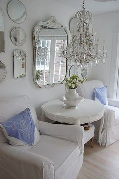 Energetic treated rustic shabby chic home Buy now. Energetic treated rustic shabby chic home Buy now. Decor, Furniture, Chic Living Room, Interior, Mirrors And Chandeliers, Home Decor, Shabby Chic Furniture, Shabby Chic Living, Chic Home Decor