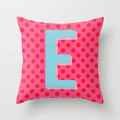 E Pillow Cover // Color & Theory