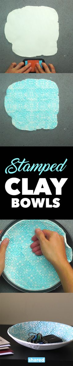 Stamped Clay Bowls