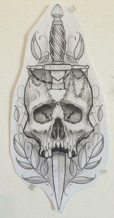 Skull Tattoo Design, Tattoo Design Drawings, Skull Design, Skull Tattoos, Tattoo Sketches, Body Art Tattoos, Tattoo Designs, Tattoo Crane, 42 Tattoo