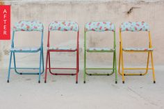Before & After: Folding Chairs Go From Boring to Balcony-Ready