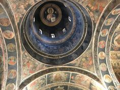 looking up inside Stavropoleos Monastery More impressions of Bucharest - living to the fullest Bucharest Romania, Travel List, Weekend Trips, Looking Up, Give It To Me, City, Pack List, Weekend Getaways, Cities