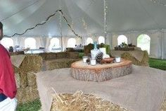 hay bale cocktail tables by estelle