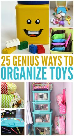 Keep the toys in your house from creating too much chaos with these organizing ideas.