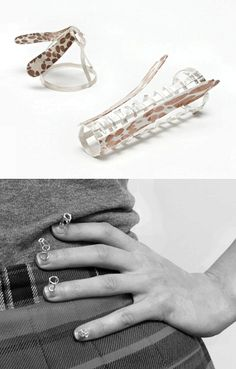 Conceptual Jewellery Design - sculptural rings & nail adornments; jewelry art // Claire McArdle