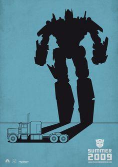 """Posters TRANSFORMERS"" by Manolito Garabato, via Behance"