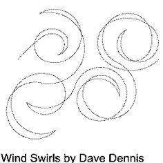 Wind Swirls Free Machine Quilting Pattern