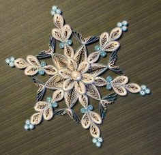 Quilled Snowflake Ornament by HeirloomQuilling on Etsy by teri-71