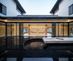 Unique Picture Frames, Courtyard House, Chinese Architecture, Building Facade, Green Landscape, Natural Scenery, Design Strategy, School Pictures, Resort Style