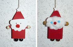 Suspension de sapin : Père Noël ( à partir d'une petite boîte d'allumettes)