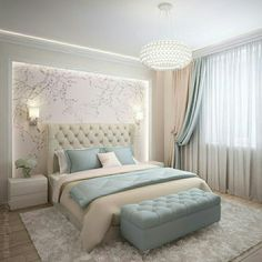 44 Cozy Feminine Bedroom Ideas for Relaxation and Boosting Your Energy – ChecoPie – Home accessories design ideas Simple Bedroom Design, Luxury Bedroom Design, Room Design Bedroom, Room Ideas Bedroom, Home Room Design, Home Decor Bedroom, Interior Design, Luxury Kids Bedroom, Ikea Bedroom