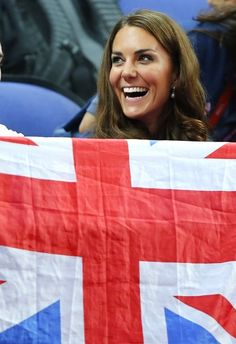 Catherine, Duchess of Cambridge, attends the gymnastics finals in the North Greenwich Arena during the London 2012 Olympic Games August 5, 2012.