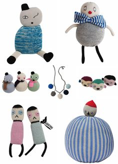 """""""quirky and cool soft toys by lucky boy sunday"""""""
