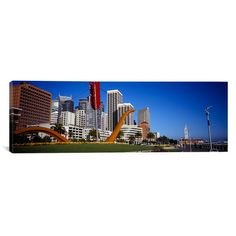 """East Urban Home Panoramic San Francisco, California Photographic Print on Canvas Size: 16"""" H x 48"""" W x 0.75"""" D"""