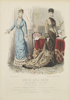 revue de la mode paris fashion plate 1875 fashion 1870s 1890s pinterest la mode. Black Bedroom Furniture Sets. Home Design Ideas