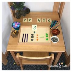 A fun activity to teach children about numeracy and counting.  #numeracy #counting #maths #numbers #educatingkids #investigate #learning #education #educate #kindergarten #preschool #playbasedlearning #children #child #childcare #earlychildhood #earlyyears #earlyyearseducation #teaching