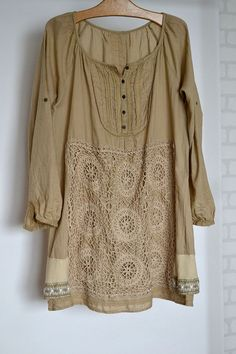 upcycled clothing beige dress recycled dress romantic