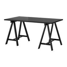 IKEA - KLIMPEN/ODDVALD, Table, black, 59x29 1/2