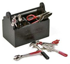 Miniature Tools And Tool Box