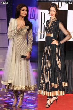 $178.44 Bollywood Salwar Kameez & Deepika Padukone Black Anarkali Suit 25906