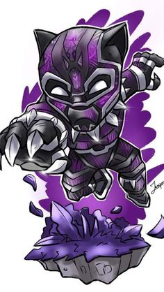 Black Panther Purple Suit Art iPhone Wallpaper Source by fullhdwallpapers Chibi Marvel, Marvel Art, Marvel Heroes, Marvel Characters, Chibi Superhero, Avengers Cartoon, Marvel Cartoons, Marvel Drawings, Cartoon Drawings